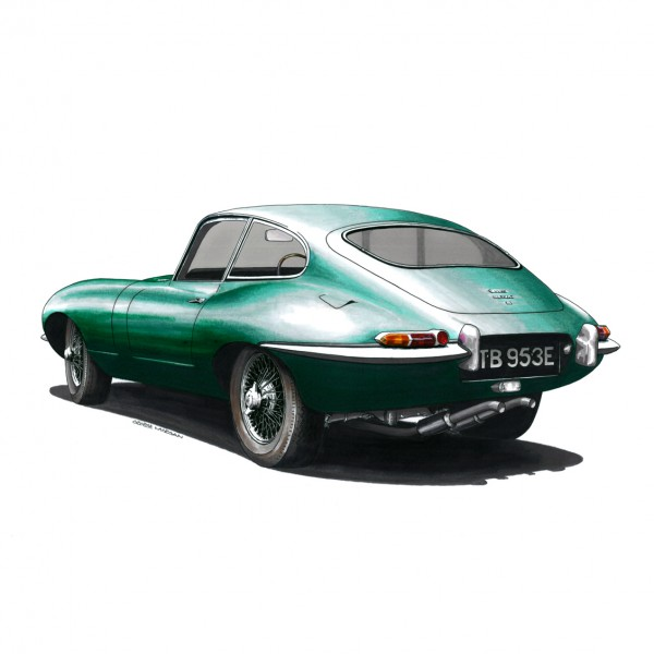 Jaguar E Type FHC Rear