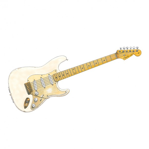 David Gilmour white strat